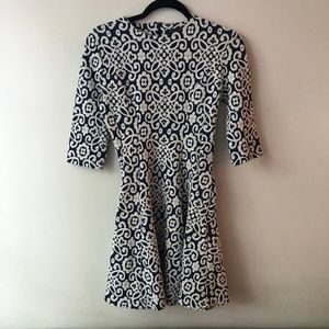 Zara Blue and White Patterned Adorable Dress